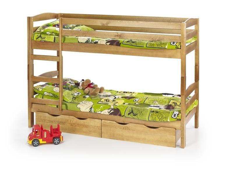 Halmar Dětská dvoupatrová postel Sam barva olše