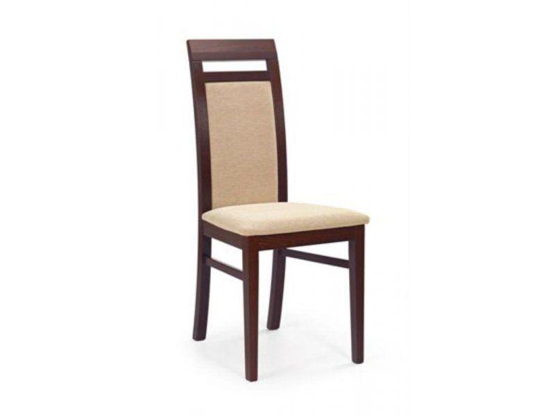 Halmar Dřevěná židle Albert barva tmavý ořech