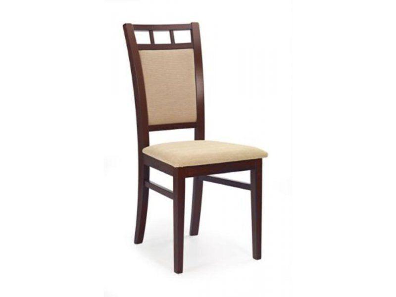 Halmar Dřevěná židle Franco barva tmavý ořech