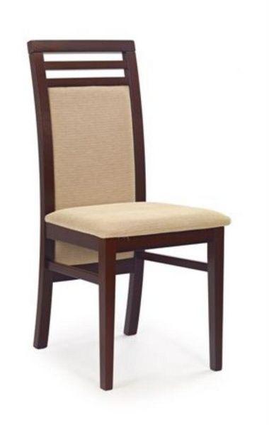 Halmar Dřevěná židle Sylwek 4 barva tmavý ořech - béžová (tkanina)