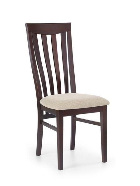 Halmar Dřevěná židle Venus barva tmavý ořech