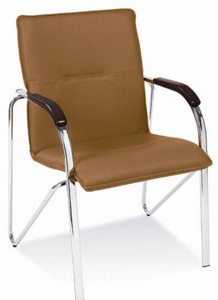 Halmar Kancelářská židle Samba barva světle hnědá