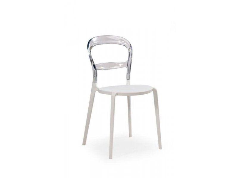 Plastová židle K100 barva čirá