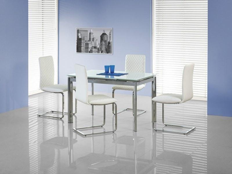 Halmar Skleněný jídelní rozkládací stůl Lambert barva bílá