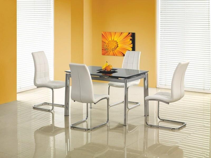 Halmar Skleněný jídelní rozkládací stůl Lambert barva černá