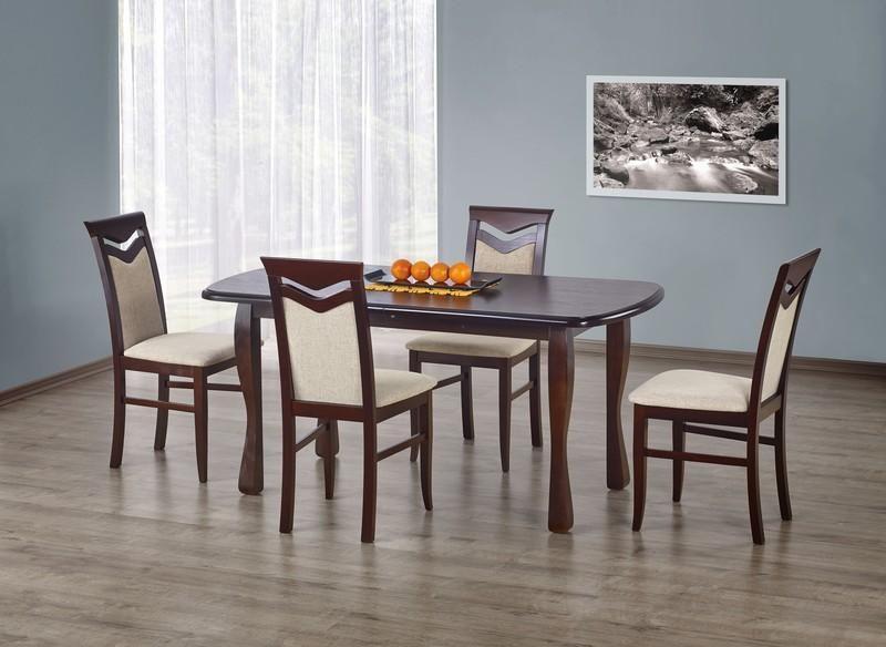 Halmar Dřevěný jídelní stůl Henryk barva tmavý ořech