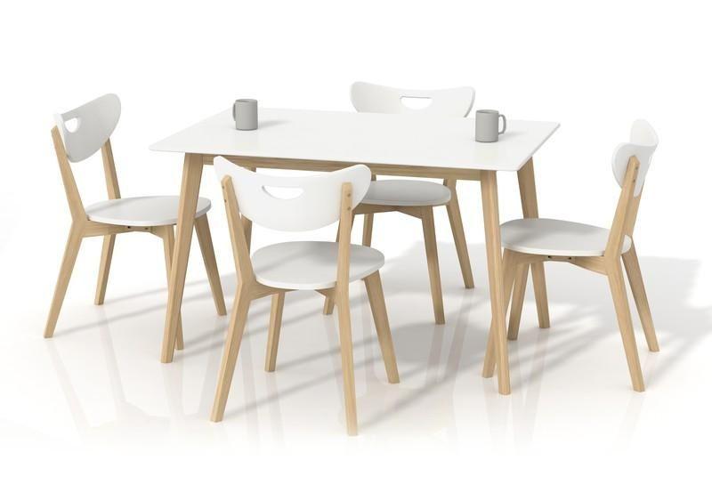 Halmar Jídelní stůl Lorrita barva bílá