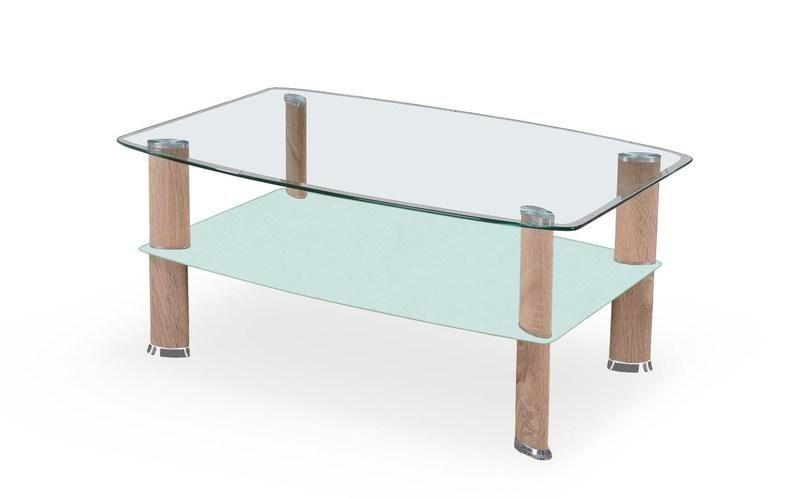Halmar Konferenční stůl Astra barva dub sonoma/mléčné sklo