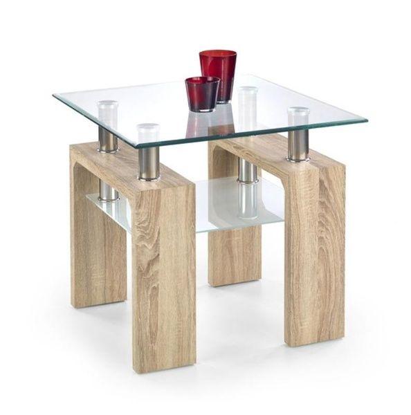 Halmar Konferenční stůl Diana H - čtverec barva dub sonoma