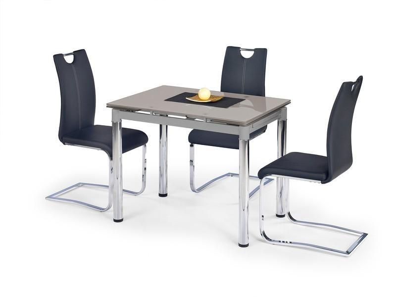 Halmar Skleněný jídelní rozkládací stůl Logan 2 barva šedá