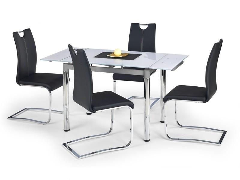 Halmar Skleněný jídelní rozkládací stůl Logan 2 barva bílá