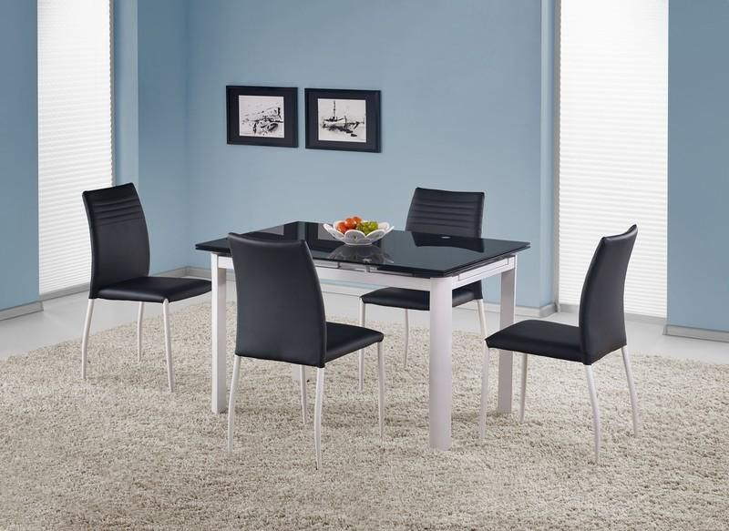 Skleněný rozkládací stůl Alston barva černá