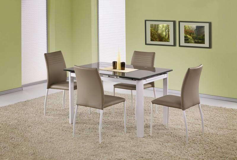 Skleněný rozkládací stůl Alston barva béžová