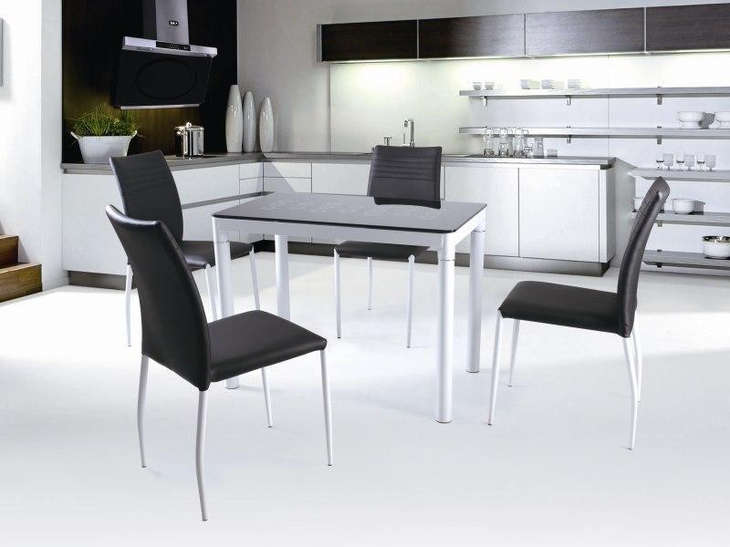 Skleněný stůl Argus barva černá