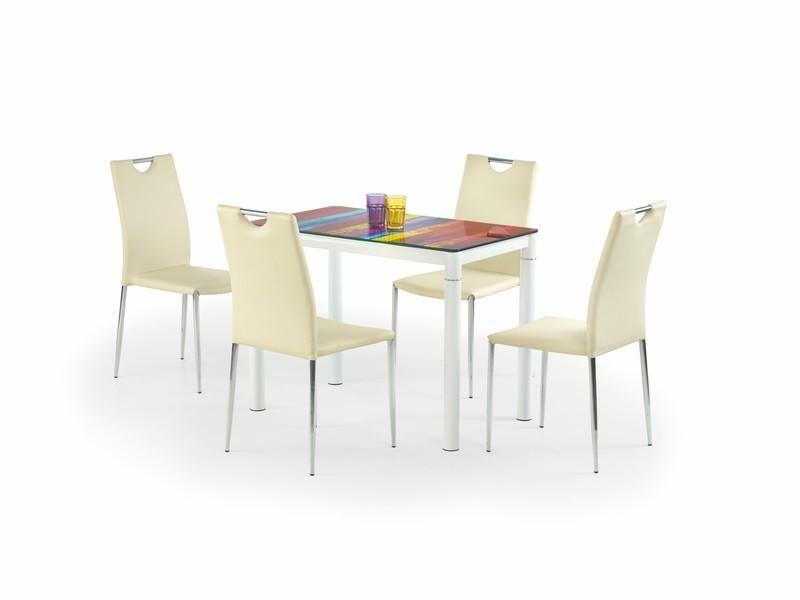 Skleněný stůl Argus barva duhová