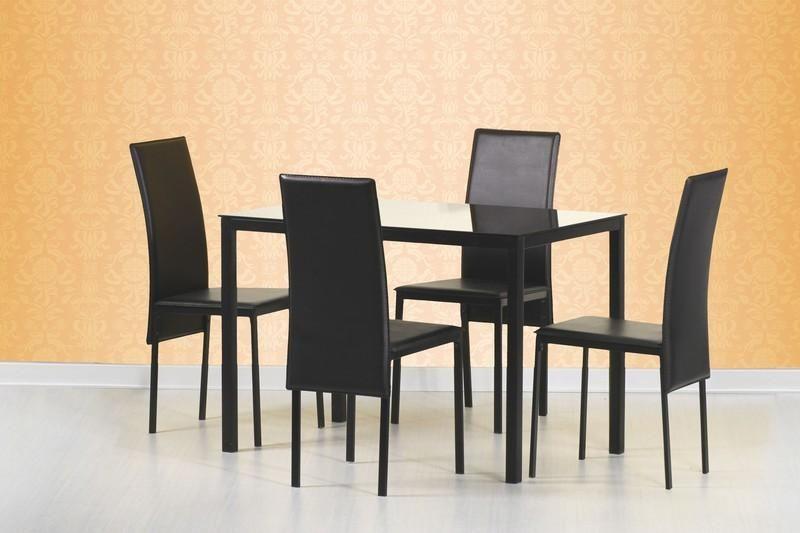 Skleněný stůl Fidel barva černá