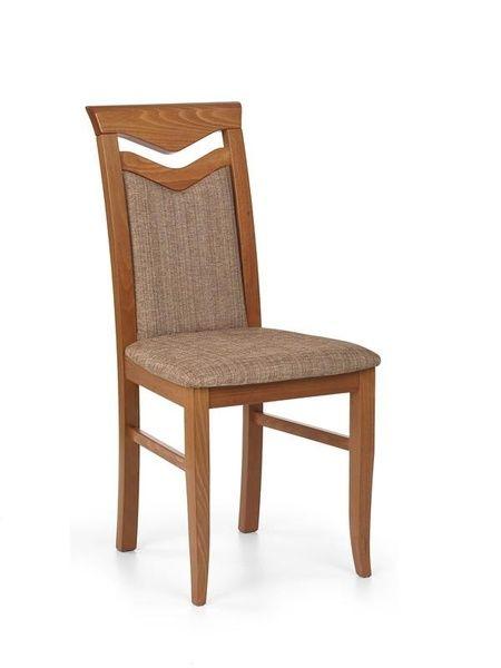 Halmar Dřevěná židle Citrone barva antická třešeň