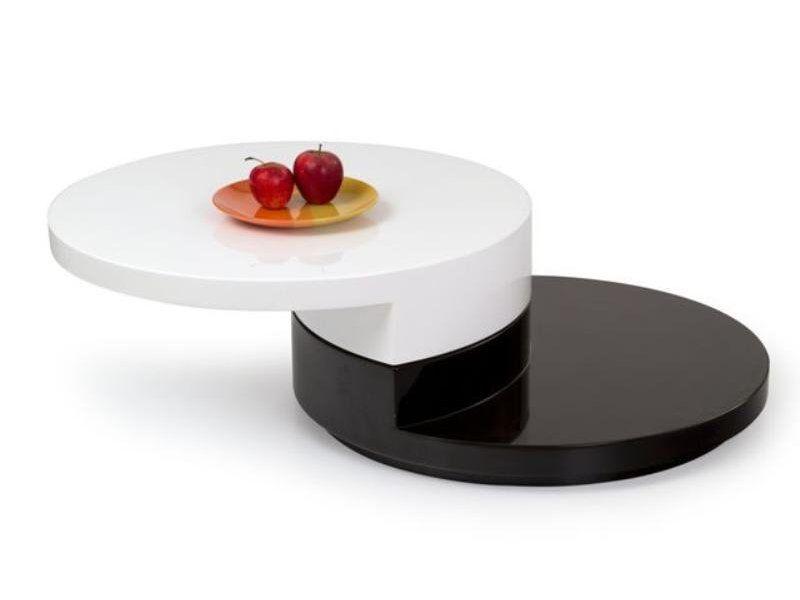 Halmar Konferenční stůl Madeleine barva bílá-černá