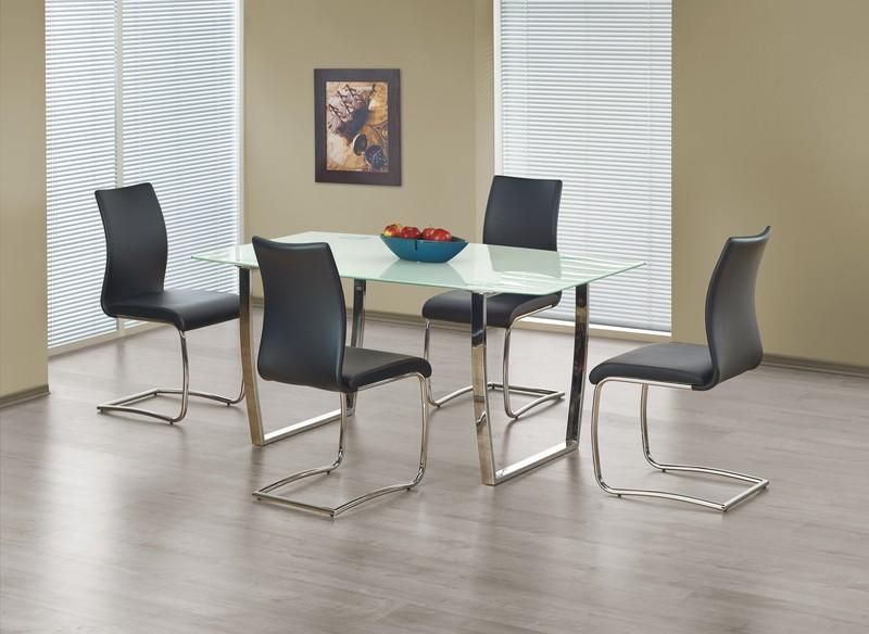 Halmar Skleněný jídelní stůl Marcus barva bílá