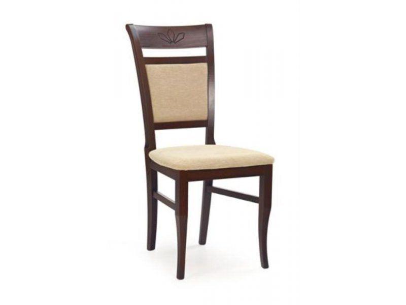 Halmar Dřevěná židle Jakub barva tmavý ořech