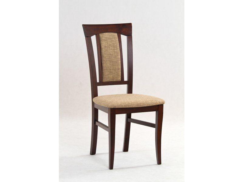 Halmar Dřevěná židle Konrad barva tmavý ořech