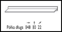 KAROL MEBLE obývací systém NICEA polička dlouhá