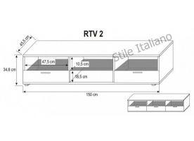 Televizní stolek RTV 2 KAROL MEBLE