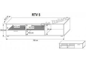 Televizní stolek RTV 5 KAROL MEBLE