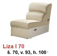 STOLAR rohová sedací souprava LIZA systém LIZA I 70