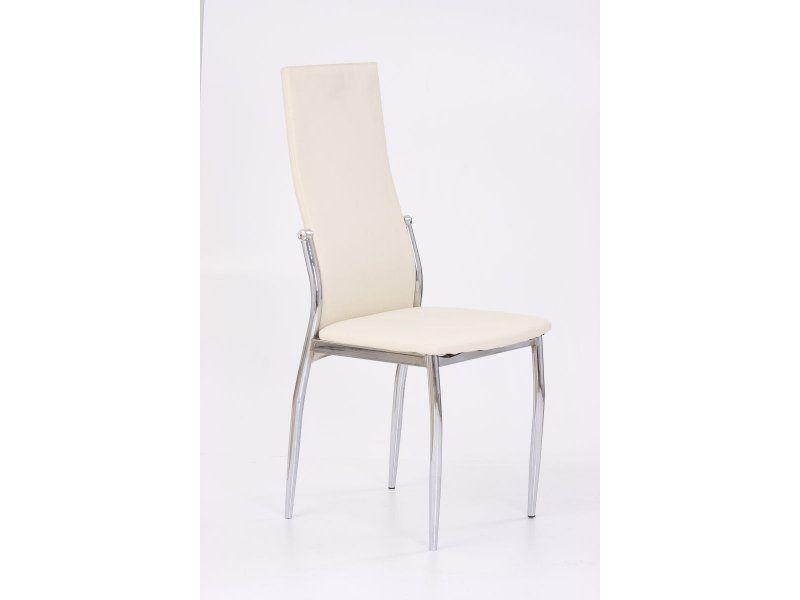 Halmar Kovová židle K3 barva vanilka