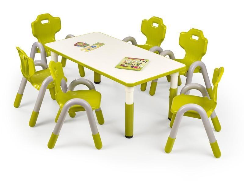 Halmar Dětský stolek Simba, obdelník barva zelená