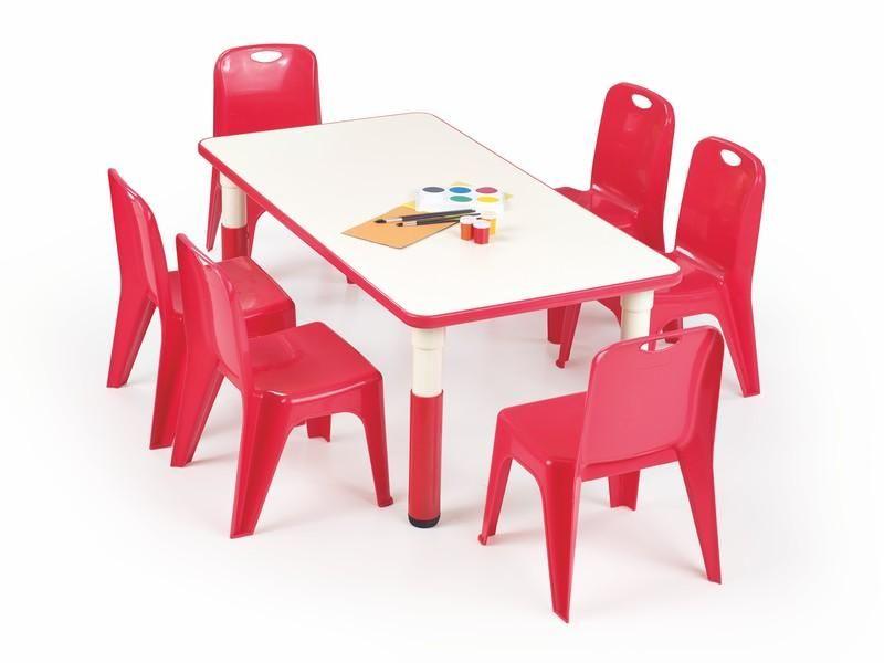 Halmar Dětský stolek Simba, obdelník barva červená