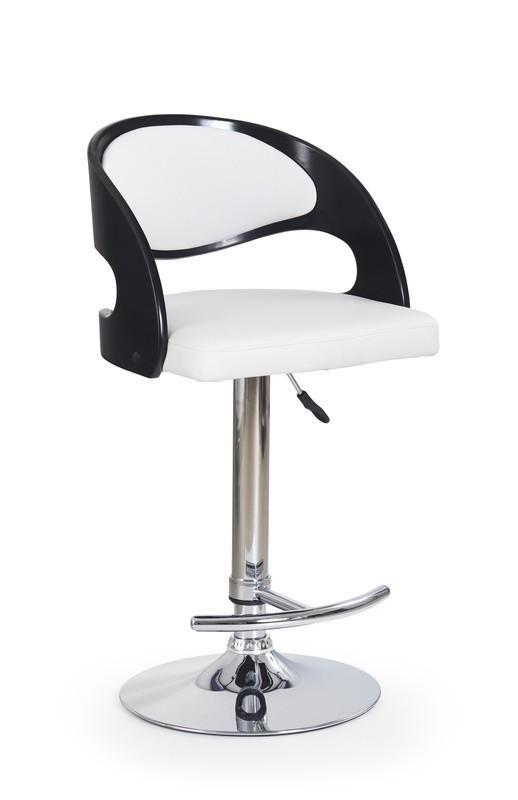 Halmar Barová židle H-18 barva černo-bílá