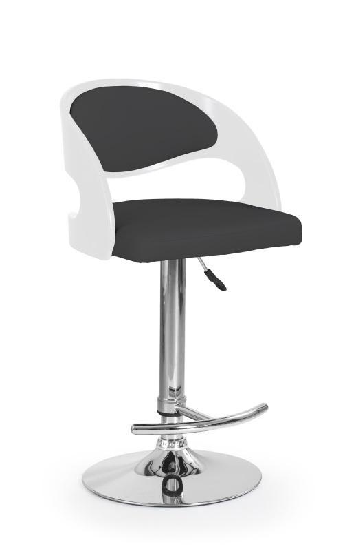 Halmar Barová židle H-18 barva bílá/černá