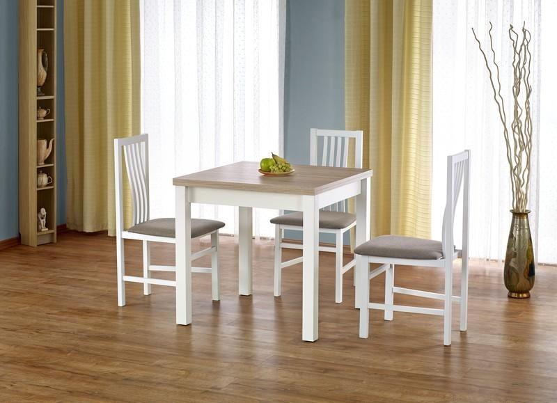 Halmar Dřevěný rozkládací jídelní stůl Gracjan barva bílá - dub sonoma