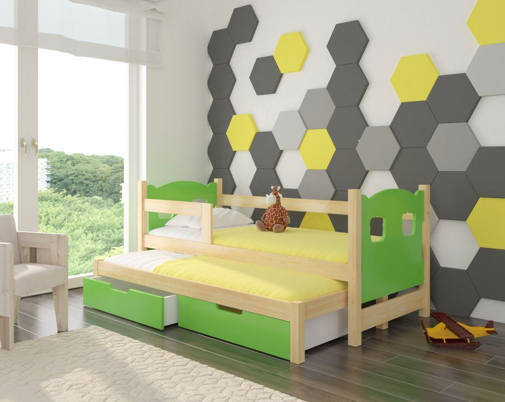 Dětská postel CAMPOS - zelená ADRK