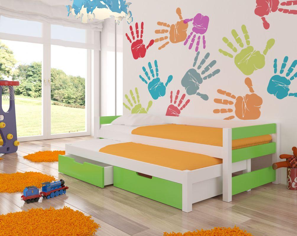 Dětská postel FRAGA - zelená ADRK