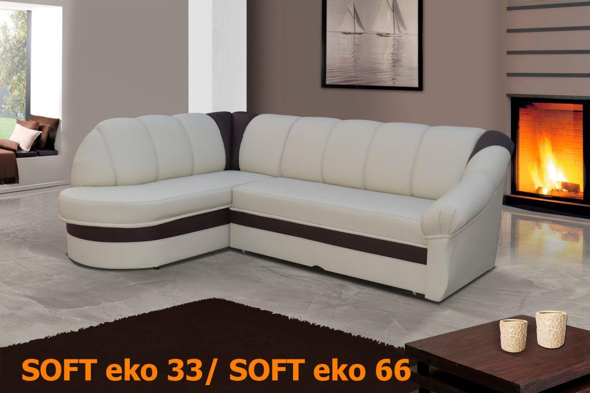 EL-TAP rohová sedací souprava BENANO materiál SOFT eko 33/ SOFT eko 66