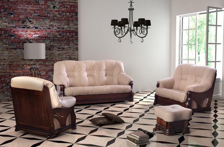 CHOJMEX Luxusní kožená sedací souprava ITALIANO sestava 3-2-1