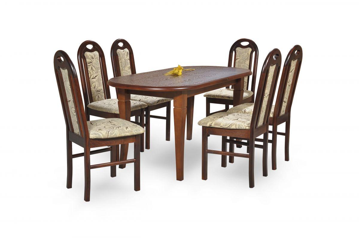 CHOJMEX Moderní jídelní sestava S-3 stůl + 6 židlí