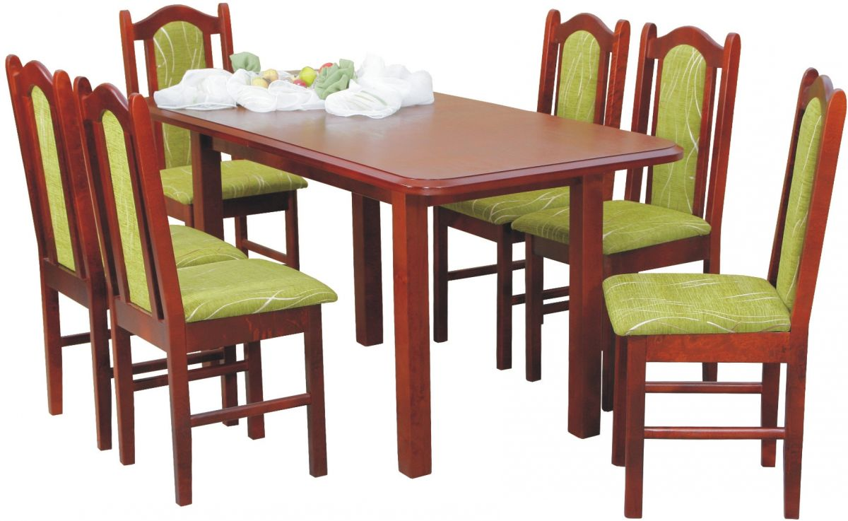 CHOJMEX Moderní jídelní sestava S-4 stůl + 6 židlí
