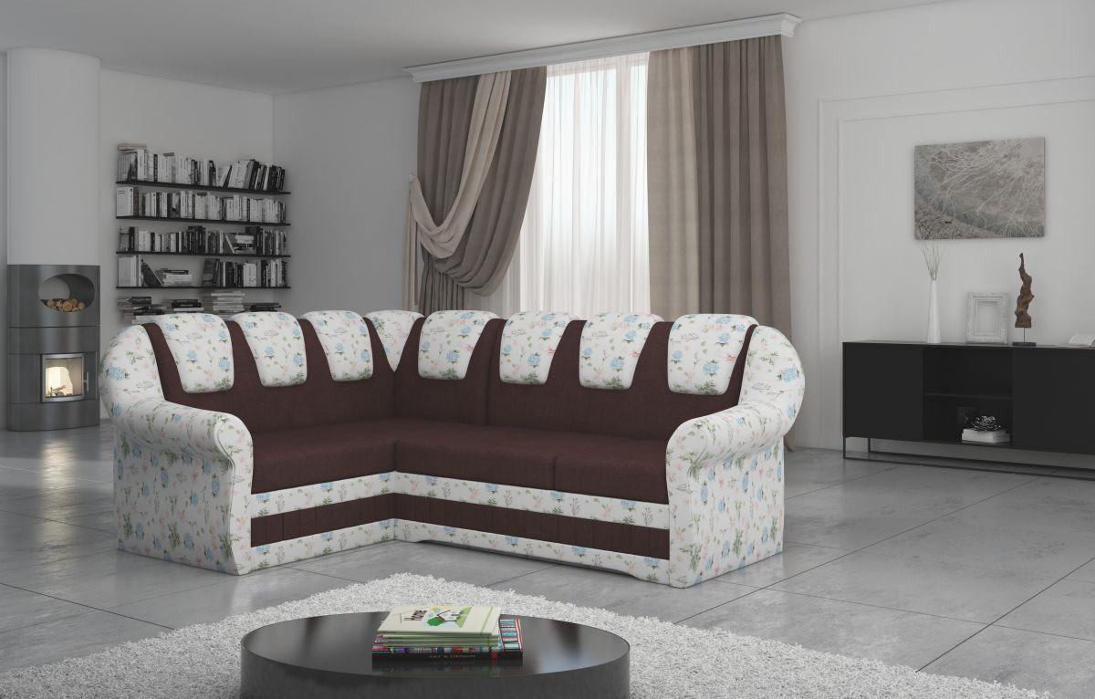 rohová sedací souprava LORD II materiál INARI 28/ROSE 14