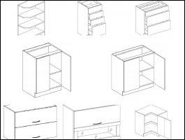 Jednotlivé skříňky