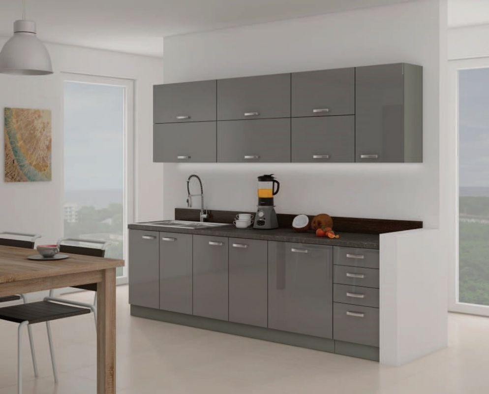 kuchyňská linka GREY-Délka 260cm LEMPERT