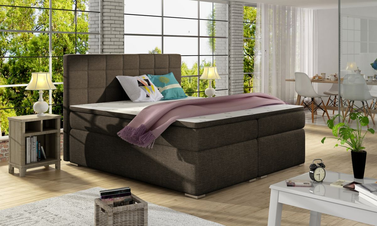 postel boxspring alicie sawana 26 el tap. Black Bedroom Furniture Sets. Home Design Ideas