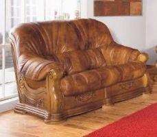 Kožená sedací souprava ROMA - Dvoj-sedák
