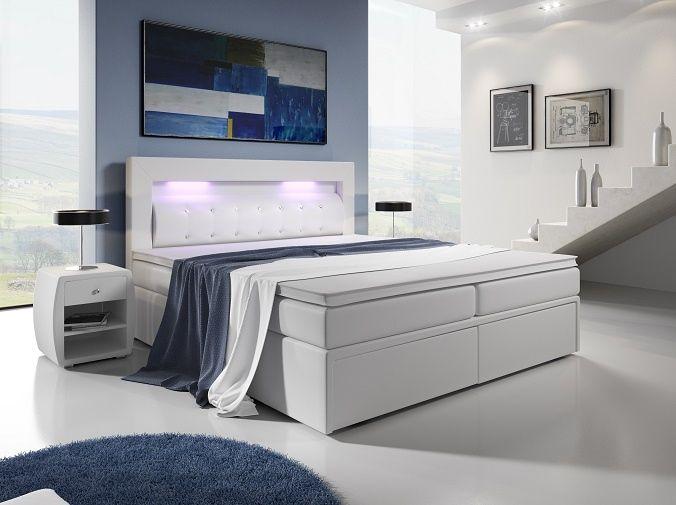 postel boxspring MILANO III - TYP 3 - 160x200cm - úlož. prostor - 2 zásuvky KAROL MEBLE