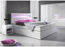 postel boxspring MILANO II - TYP 1 - úlož. prostor - 2+2 zásuvky