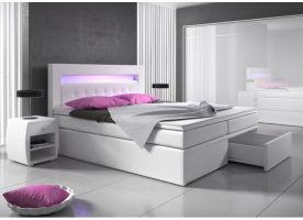 postel boxspring MILANO II - TYP 3 - úlož. prostor - 2 zásuvky