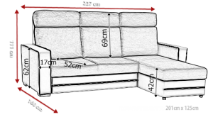 sedací souprava MAXX – Inari 96 / Soft bílý KINAS